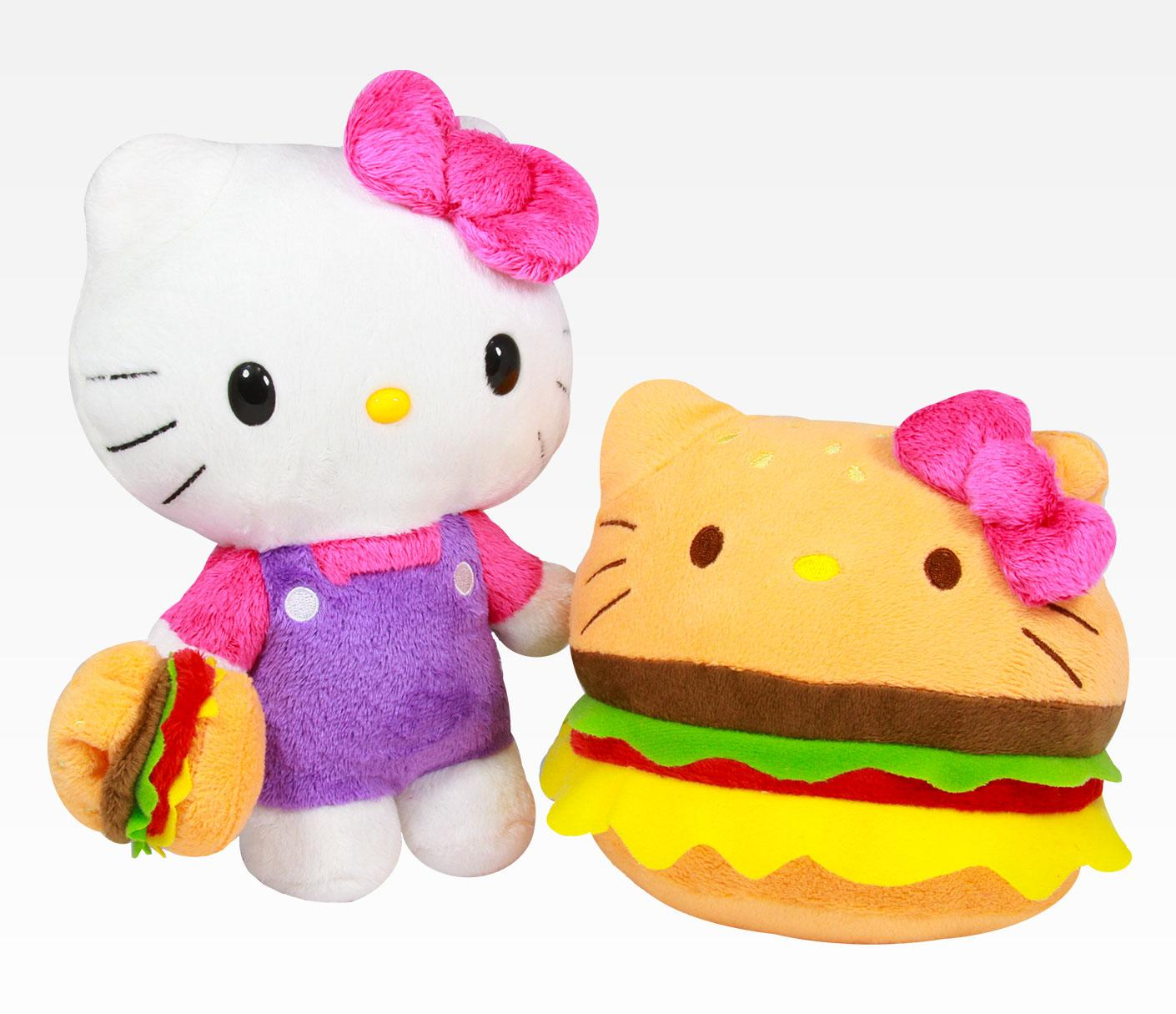 Hello Kitty Toy Food : Hello kitty reversible plush burger everything