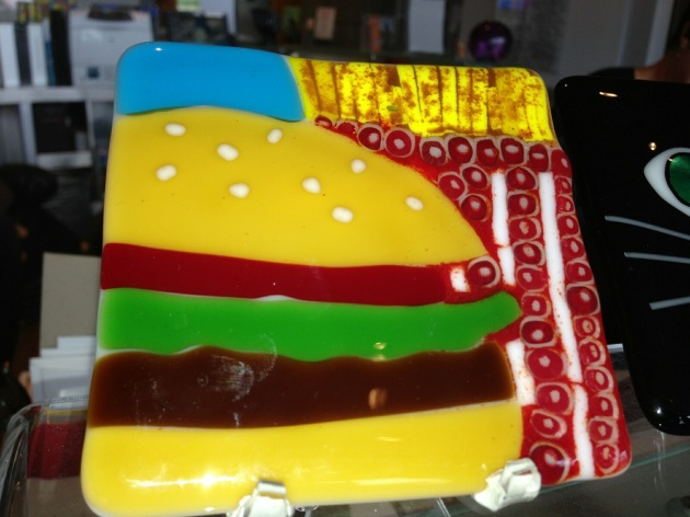 Burger Glass Coaster