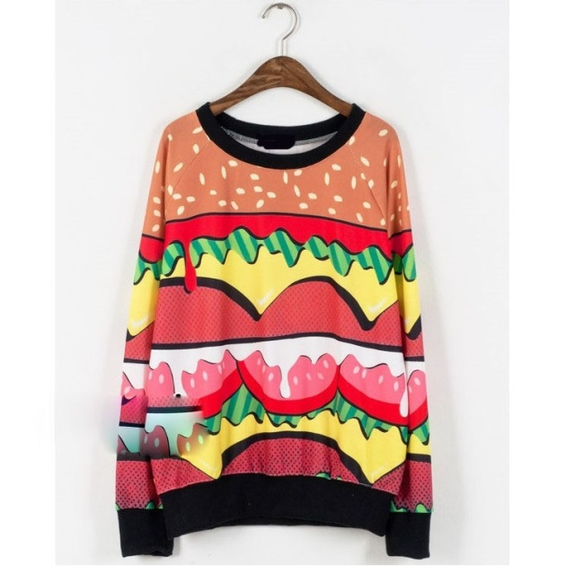 Hamburger Sweatshirt