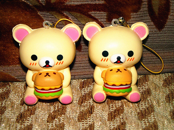 Hamburger Bear Charms